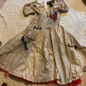 Girls Voodo Costume Halloween Dress sz xl